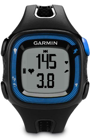 garmin forerunner 15 review - black and blue