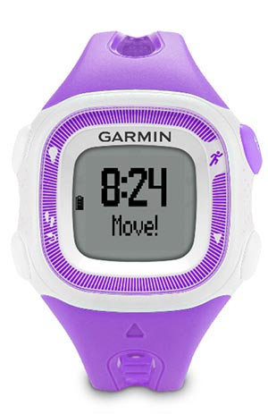 garmin forerunner 15 review - purple and white