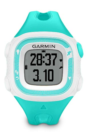 garmin forerunner 15 review - teal and white