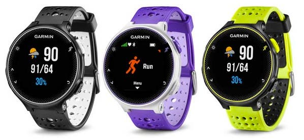 garmin forerunner 230 comparison chart