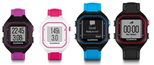 garmin forerunner 25 comparison chart